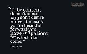 contentment 1